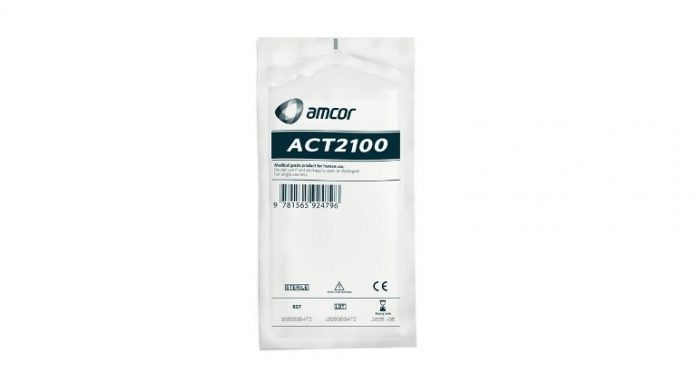 Amcor has introduced ACT2100 heat seal coating for a healthcare packaging solution