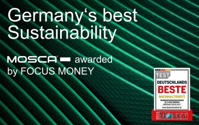 """Mosca tops the list of winners in the """"Mechanical and Plant Engineering"""" category of """"Germany's Best – Sustainability,"""" awarded by Focus Money"""